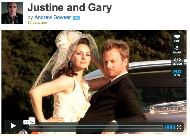 vimeopic Justine and Gary: The Wedding Video!